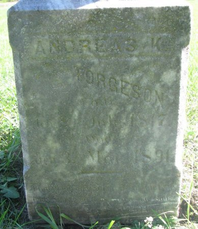 TORGESON, ANDREAS K. (CLOSE UP) - Union County, South Dakota | ANDREAS K. (CLOSE UP) TORGESON - South Dakota Gravestone Photos