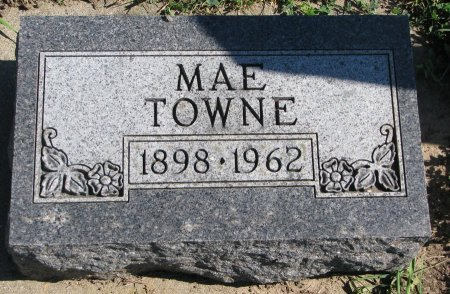 TOWNE, MAE - Union County, South Dakota | MAE TOWNE - South Dakota Gravestone Photos