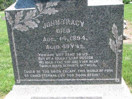 TRACY, JOHN, SR. (CLOSEUP) - Union County, South Dakota   JOHN, SR. (CLOSEUP) TRACY - South Dakota Gravestone Photos