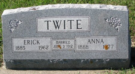 TWITE, ERICK - Union County, South Dakota | ERICK TWITE - South Dakota Gravestone Photos