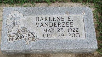 VANDERZEE, DARLENE E. - Union County, South Dakota | DARLENE E. VANDERZEE - South Dakota Gravestone Photos