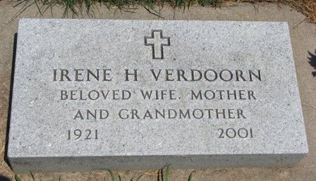 ANDERSON VERDOORN, IRENE H. - Union County, South Dakota | IRENE H. ANDERSON VERDOORN - South Dakota Gravestone Photos