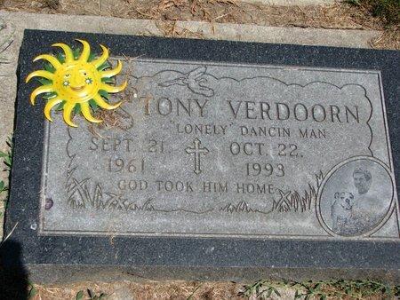 VERDOORN, TONY M. - Union County, South Dakota   TONY M. VERDOORN - South Dakota Gravestone Photos