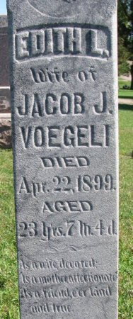 VOEGELI, EDITH L. (CLOSE UP) - Union County, South Dakota | EDITH L. (CLOSE UP) VOEGELI - South Dakota Gravestone Photos