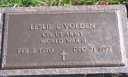 VOLDEN, LESLIE E. (WORLD WAR II) - Union County, South Dakota | LESLIE E. (WORLD WAR II) VOLDEN - South Dakota Gravestone Photos