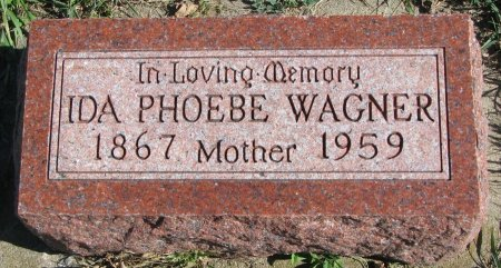 WAGNER, IDA PHOEBE - Union County, South Dakota | IDA PHOEBE WAGNER - South Dakota Gravestone Photos