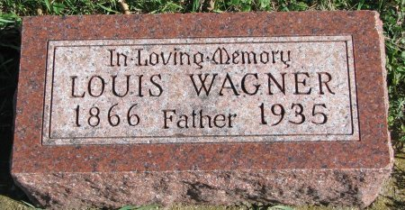 WAGNER, LOUIS - Union County, South Dakota | LOUIS WAGNER - South Dakota Gravestone Photos
