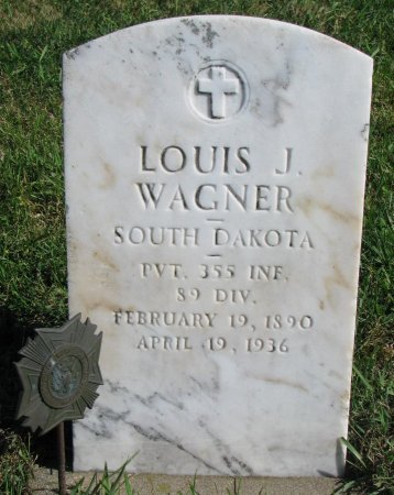 WAGNER, LOUIS J. (MILITARY) - Union County, South Dakota | LOUIS J. (MILITARY) WAGNER - South Dakota Gravestone Photos
