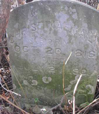 WALIN, CHRISTINA - Union County, South Dakota   CHRISTINA WALIN - South Dakota Gravestone Photos