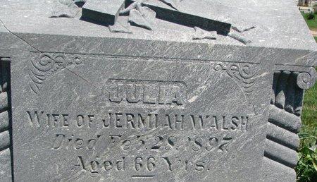 WALSH, JULIA (CLOSEUP) - Union County, South Dakota | JULIA (CLOSEUP) WALSH - South Dakota Gravestone Photos