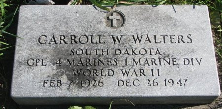 WALTERS, CARROLL W. (WORLD WAR II) - Union County, South Dakota | CARROLL W. (WORLD WAR II) WALTERS - South Dakota Gravestone Photos