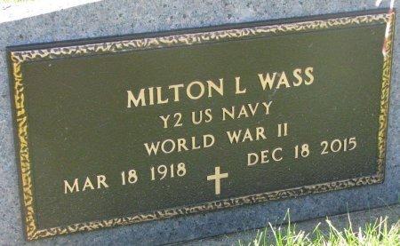 WASS, MILTON L. (MILITARY) - Union County, South Dakota | MILTON L. (MILITARY) WASS - South Dakota Gravestone Photos