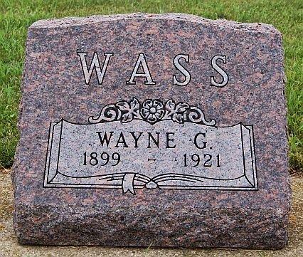 WASS, WAYNE GARWOOD - Union County, South Dakota | WAYNE GARWOOD WASS - South Dakota Gravestone Photos