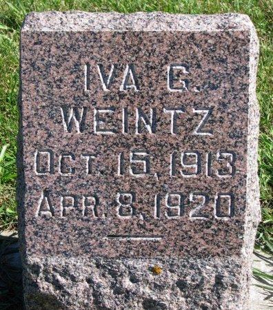 WEINTZ, IVA G. - Union County, South Dakota   IVA G. WEINTZ - South Dakota Gravestone Photos