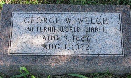 WELCH, GEORGE W. (WORLD WAR I) - Union County, South Dakota | GEORGE W. (WORLD WAR I) WELCH - South Dakota Gravestone Photos
