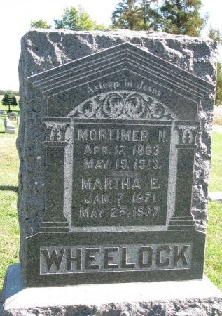 WHEELOCK, MARTHA E. - Union County, South Dakota | MARTHA E. WHEELOCK - South Dakota Gravestone Photos