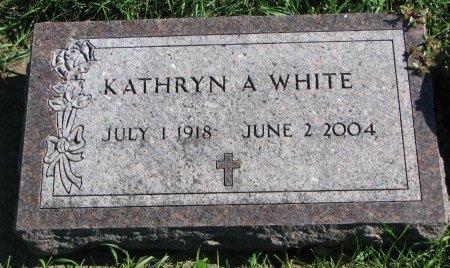 WHITE, KATHRYN A. - Union County, South Dakota   KATHRYN A. WHITE - South Dakota Gravestone Photos