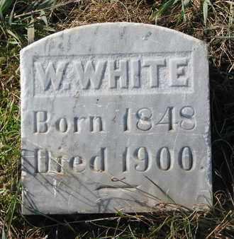 WHITE, W. - Union County, South Dakota | W. WHITE - South Dakota Gravestone Photos