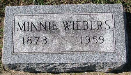 WIEBERS, MINNIE - Union County, South Dakota | MINNIE WIEBERS - South Dakota Gravestone Photos