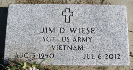 WIESE, JIM DARRELL (VIETNAM) - Union County, South Dakota | JIM DARRELL (VIETNAM) WIESE - South Dakota Gravestone Photos