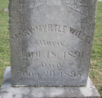 WILLEY, MARY MYRTLE (CLOSEUP) - Union County, South Dakota | MARY MYRTLE (CLOSEUP) WILLEY - South Dakota Gravestone Photos