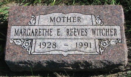 REEVES WITCHER, MARGARETHE E. - Union County, South Dakota | MARGARETHE E. REEVES WITCHER - South Dakota Gravestone Photos