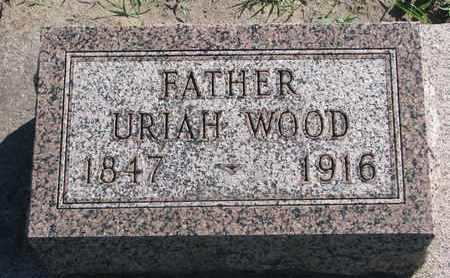 WOOD, URIAH - Union County, South Dakota | URIAH WOOD - South Dakota Gravestone Photos
