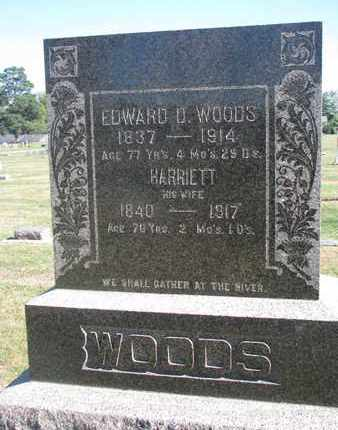 WOODS, EDWARD D. - Union County, South Dakota | EDWARD D. WOODS - South Dakota Gravestone Photos