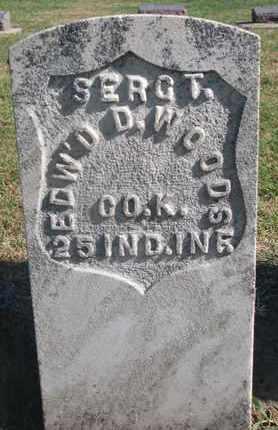 WOODS, EDWARD D. (MILITARY) - Union County, South Dakota | EDWARD D. (MILITARY) WOODS - South Dakota Gravestone Photos