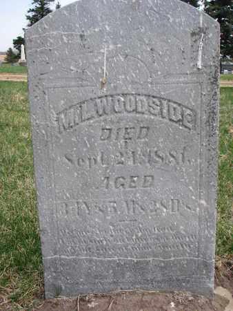WOODSIDE, M.L. - Union County, South Dakota | M.L. WOODSIDE - South Dakota Gravestone Photos