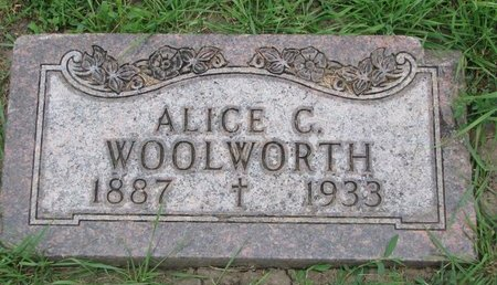 WOOLWORTH, ALICE C. - Union County, South Dakota | ALICE C. WOOLWORTH - South Dakota Gravestone Photos