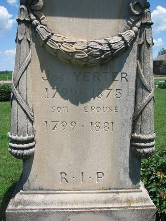 YERTER, MRS. JOSEPH (CLOSEUP) - Union County, South Dakota | MRS. JOSEPH (CLOSEUP) YERTER - South Dakota Gravestone Photos