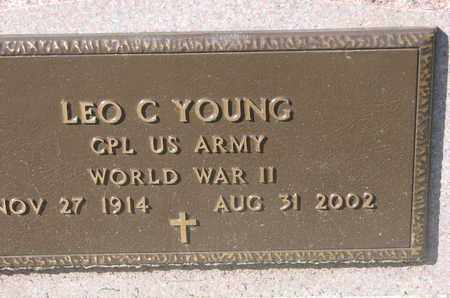 YOUNG, LEO C. (WORLD WAR II) - Union County, South Dakota | LEO C. (WORLD WAR II) YOUNG - South Dakota Gravestone Photos