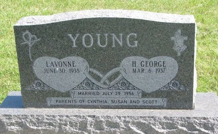YOUNG, LAVONNE - Union County, South Dakota | LAVONNE YOUNG - South Dakota Gravestone Photos
