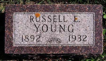 YOUNG, RUSSELL E - Union County, South Dakota   RUSSELL E YOUNG - South Dakota Gravestone Photos