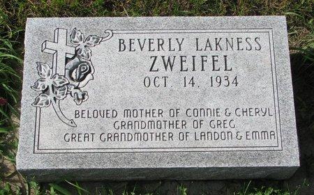 ZWEIFEL, BEVERLY - Union County, South Dakota   BEVERLY ZWEIFEL - South Dakota Gravestone Photos