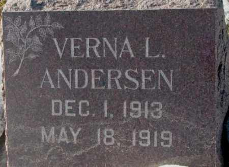ANDERSEN, VERNA L. - Yankton County, South Dakota   VERNA L. ANDERSEN - South Dakota Gravestone Photos