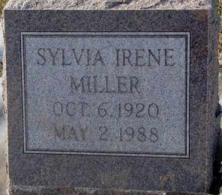MILLER, SYLVIA IRENE - Yankton County, South Dakota | SYLVIA IRENE MILLER - South Dakota Gravestone Photos