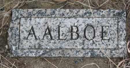 AALBOE, FAMILY STONE - Yankton County, South Dakota | FAMILY STONE AALBOE - South Dakota Gravestone Photos
