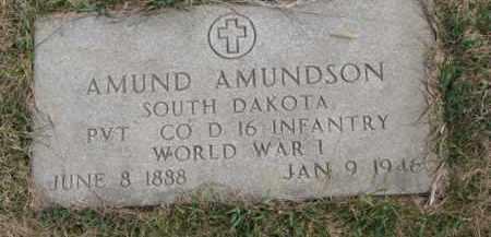 AMUNDSON, AMUND (WW I) - Yankton County, South Dakota   AMUND (WW I) AMUNDSON - South Dakota Gravestone Photos