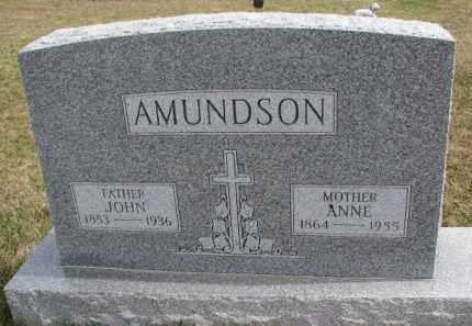 AMUNDSON, ANNE - Yankton County, South Dakota   ANNE AMUNDSON - South Dakota Gravestone Photos