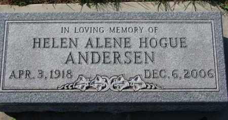 HOGUE ANDERSEN, HELEN ALENE - Yankton County, South Dakota | HELEN ALENE HOGUE ANDERSEN - South Dakota Gravestone Photos