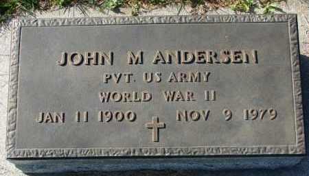 ANDERSEN, JOHN M. (WW II) - Yankton County, South Dakota | JOHN M. (WW II) ANDERSEN - South Dakota Gravestone Photos