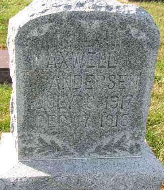 ANDERSEN, MAXWELL - Yankton County, South Dakota   MAXWELL ANDERSEN - South Dakota Gravestone Photos