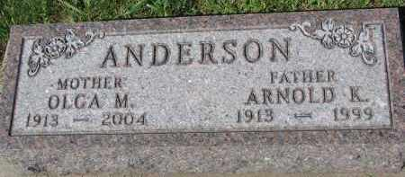 ANDERSON, OLGA M. - Yankton County, South Dakota | OLGA M. ANDERSON - South Dakota Gravestone Photos