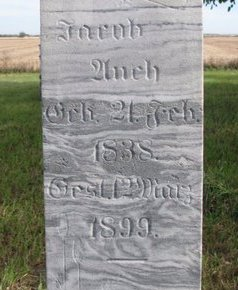 AUCH, JACOB (CLOSE UP) - Yankton County, South Dakota | JACOB (CLOSE UP) AUCH - South Dakota Gravestone Photos