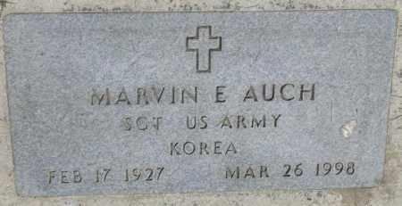 AUCH, MARVIN E. (MILITARY) - Yankton County, South Dakota   MARVIN E. (MILITARY) AUCH - South Dakota Gravestone Photos