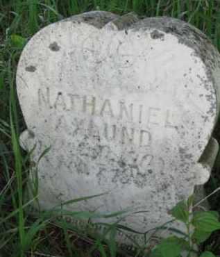 AXLUND, NATHANIEL - Yankton County, South Dakota | NATHANIEL AXLUND - South Dakota Gravestone Photos