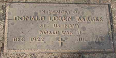 BARGER, DONALD LOREN (WW II) - Yankton County, South Dakota | DONALD LOREN (WW II) BARGER - South Dakota Gravestone Photos