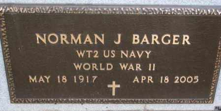 BARGER, NORMAN J. (WW II) - Yankton County, South Dakota | NORMAN J. (WW II) BARGER - South Dakota Gravestone Photos
